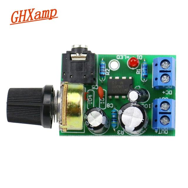 US $3 49 17% OFF|GHXAMP LM386 10W Mono Amplifier Board Mini Audio Amplifier  Desktop PC Speaker DIY Small radio Boombox 3 5mm Audio DC3 12V-in