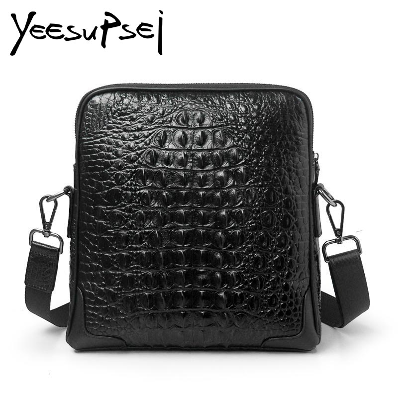 YeeSupSei Women Genuine Leather Alligator Crossbody Cowhide Crocodile Messenger Bags Female Small Shoulder Bag Clutch Handbag attractive rhinestone embellished necklace and a pair of earrings for women