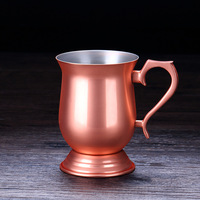 copper cup Moscow Mule wine glass Goblet of Fire mugs Rose Gold Pro Flame Cup Pull Cup Set Metal Cup Court Cocktail Glass