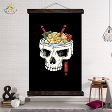 Ramen Skull Brain Wall Art Canvas Prints Painting Frame Scroll Hanging Poster Decorative Picture art print wall poster