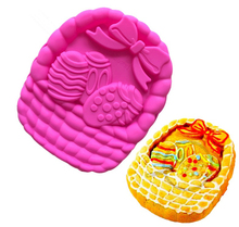 3D Egg Basket Easter Day Silicone Cake Mold Bread Mould Pan Easter Sunday Decoration 28*24*4.5cm Kitchen Baking Tools E565