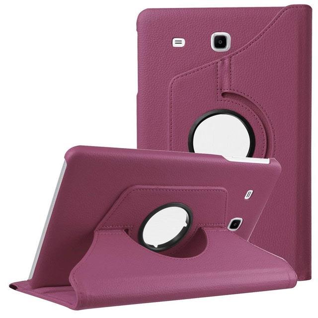 """Inteligente magnético caso cubierta de cuero PU para Samsung Galaxy Tab E 9,6 """"T560 T561 SM-T560 giratorio 360 Folio Stand caso de la tableta, funda"""