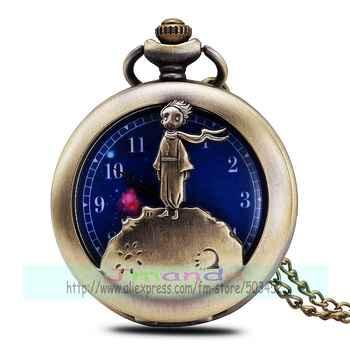 100pcs/lot designer blue dial retro pocket watch bronze color kids case quartz watch for unisex wholesale scarf child clock - SALE ITEM Watches