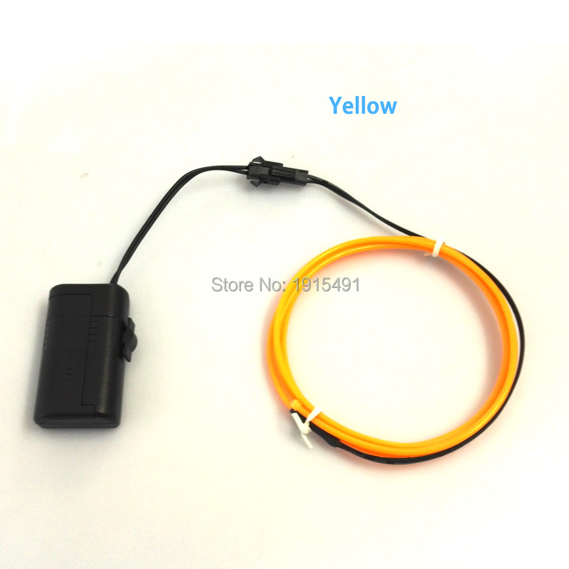 1.5V 1Meter Handmade Cartoon Figure Yellow 2.3mm EL Cable Rope Neon Led Strip for Hallow ...
