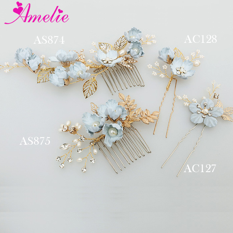 Amelie Handmade Blue Flower Freshwater Pearl Small Beads