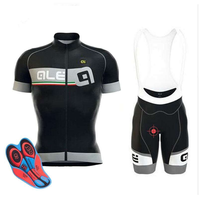 2017 Ale Radtrikot set Mann Kurzarm Atmungs ropa Ciclismo Mountainbike shirts fahrrad trägerhose 9D gel pad