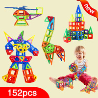 New 152pcs Mini Magnetic Designer Construction Set Model Building Toy Plastic Magnetic Blocks Educational Toys For