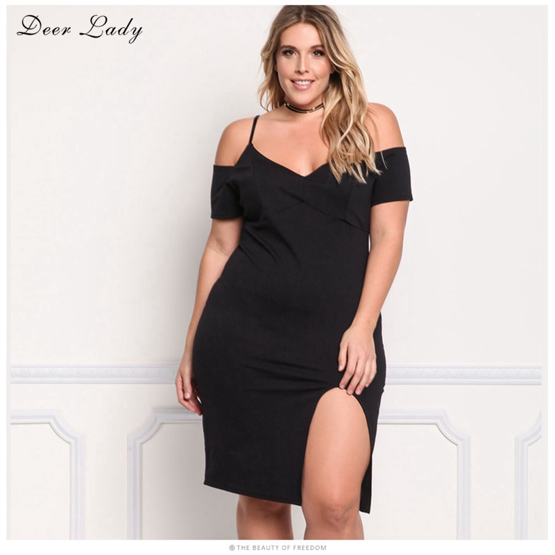 Deer Lady 2017Bodycon Party Dresses Summer Dress Plus Size 3xl ...