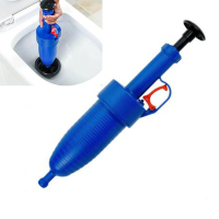 Through toilet plunger Strong Suction Toilet Pipe Sink Sewer Bathtub Pump Plunger Sewer dredge tools Blue