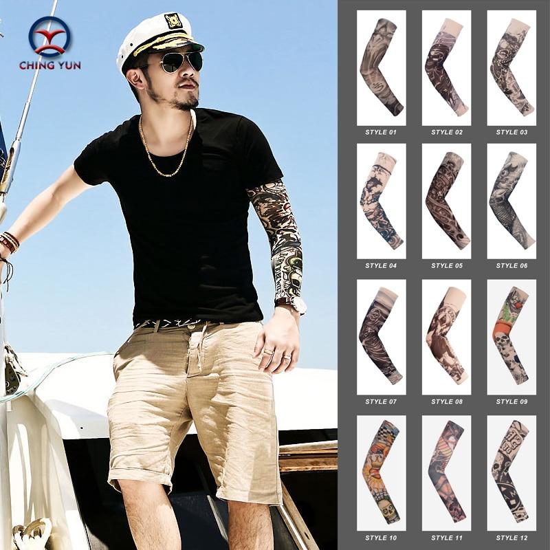 CHING YUN New Fashion Tattoo Sleeves Arm Warmer Unisex UV Protection Outdoor Temporary Fake Tattoo Arm Sleeve Warmer Sleeve MO
