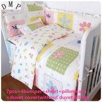 ¡Promoción! 6/7 piezas 100% algodón cuna ropa de cama conjunto ropa de cama producto infantil dibujos animados edredón cubierta, 120*60/120*70 cm