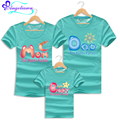 Family Tshirt Mom Baby Father Cotton Summer Matching Mother Son Clothes Short Sleeve Family Look Father Son Mother Daughter