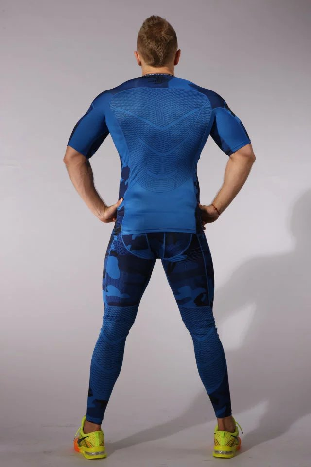 Camouflage Running Sets Men Sport Suit