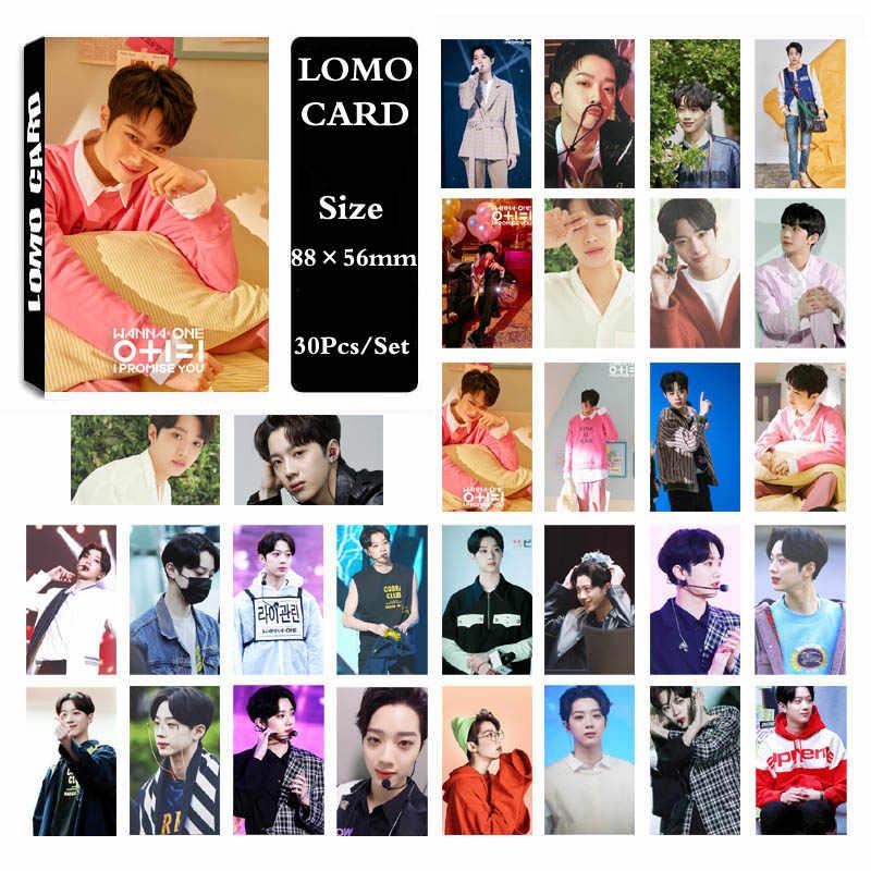 Фотобумага YANZIXG KPOP want ONE 0 + 1 = я обещаю что LAI KUAN LIN Фотокарта Lomo Card HD   