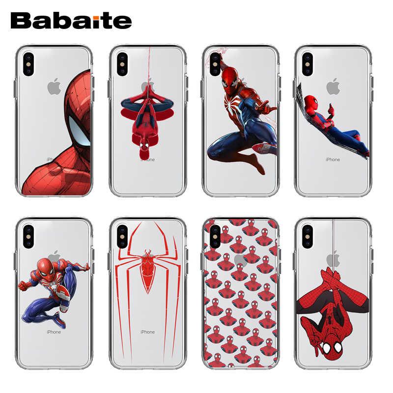 独占自家製 Babaite クールスパイダーマン透明中空電話ケース iphoneX ため XS XR XSMax 7 8 Plus11 11pro 11promax