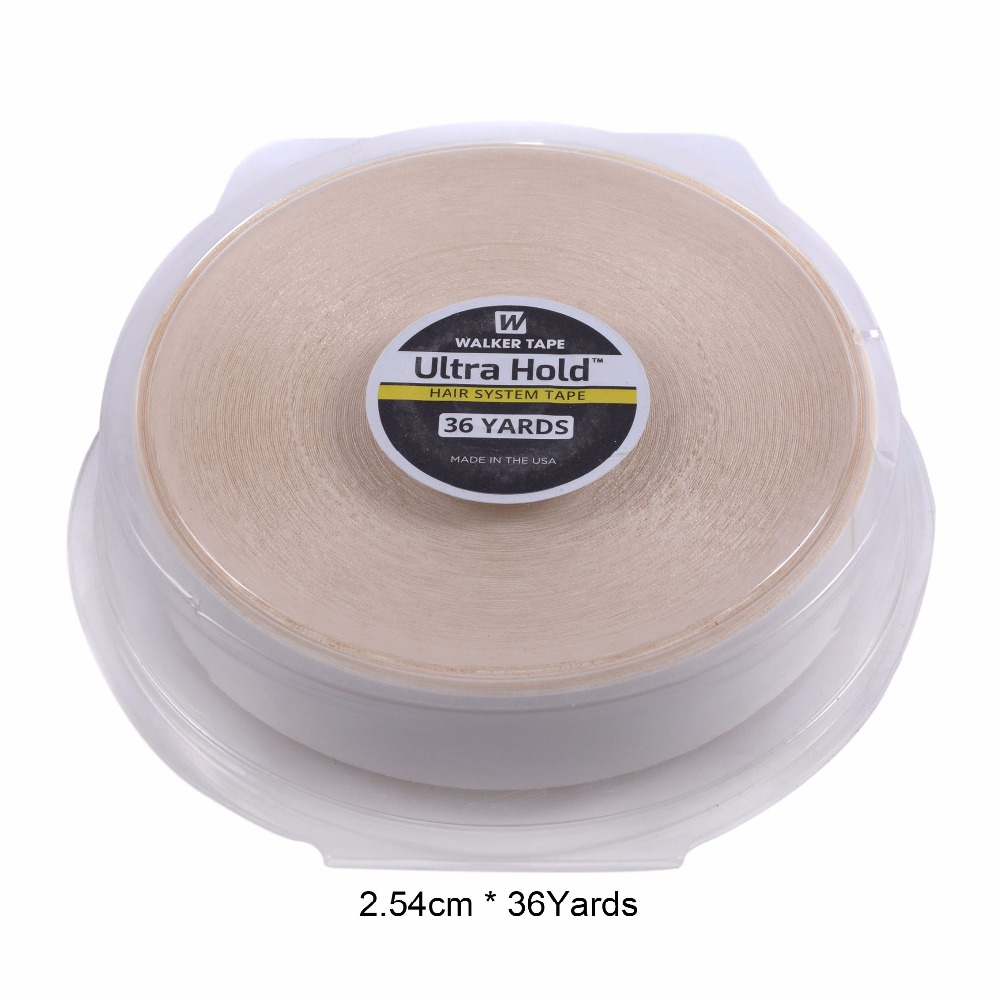 1inch 36yards white Strong Hair System Tape Ultra Hold Double Sided Tape For Hair Extension Toupee