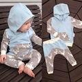 Infant Toddler Baby Boys Ropa Ciervos Tops Con Capucha de la Chaqueta + Pantalones Trajes 2 UNIDS Conjunto