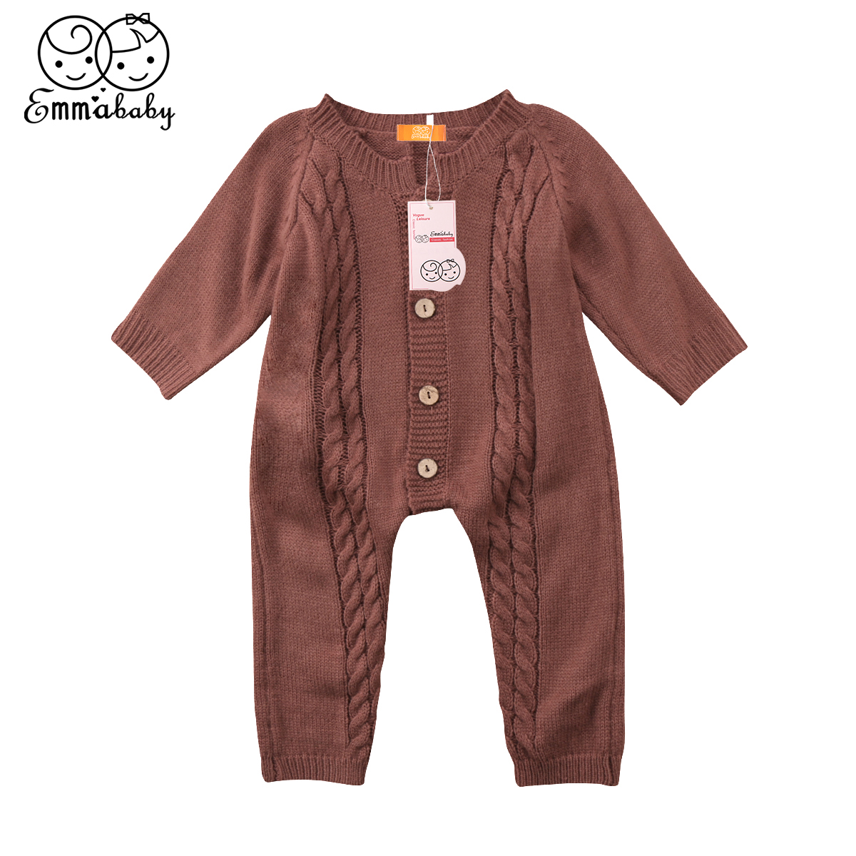 2018 new fashion winer warm knit rompers Infant Newborn Baby Boys Girls long sleeve Jumpsuit Romper knitting Clothes Outfits 2016 autumn baby rompers boys girls long sleeves jumpsuit 100% cotton infant romper newborn overall kids striped fashion clothes