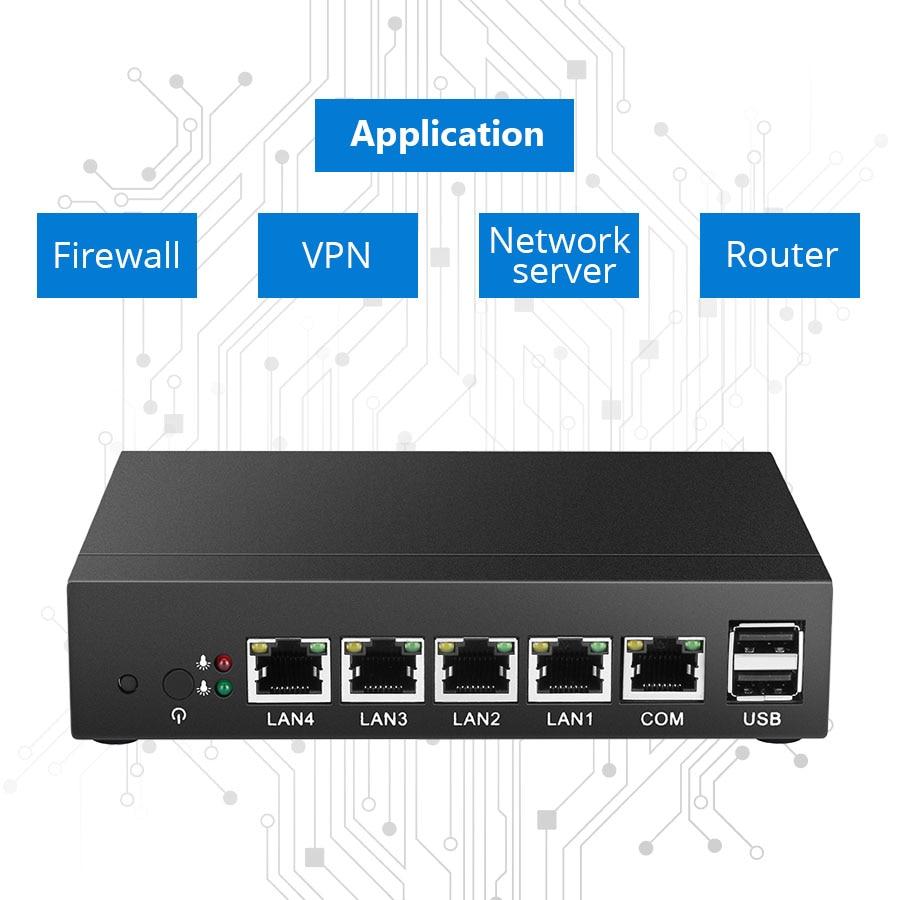 Mini PC 4 LAN Router Cortafuegos J1800 Celeron J1900 Procesador Quad - Mini PC - foto 2