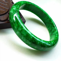 fine jewelry Myanmar natural A cargo jadeite green hot green bracelet old pit material positive atmosphere