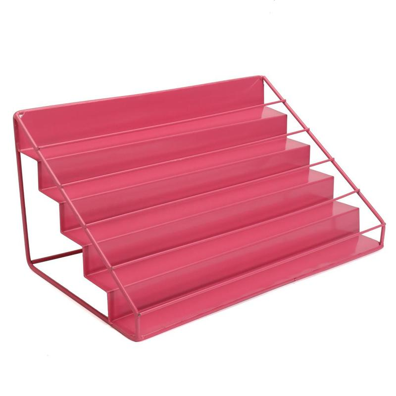 цены 3 Colors Nail Polish Shelves 5 Tier Nail Polish Display Storage Shelf Iron Mount Organizer Stands Rack Holder Nail Display Stand