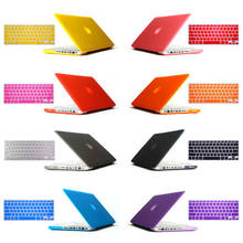 "2in1 freeship gift Matte Hard Crystal Glossy Cover Case shell+ Keyboard Skin For 11"" 12"" 13"" 15"" inch New Macbook Air Pro Retina(China)"