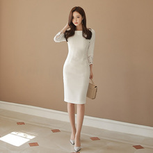 Long Sleeves Vintage Sexy Bandage Bodycon Dresses