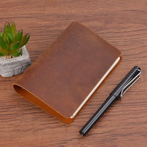 Image 4 - Hot Sale Classic Business Notebook A7 Genuine Leather Cover Loose Leaf Notebook Diary Travel Journal Sketchbook Planner