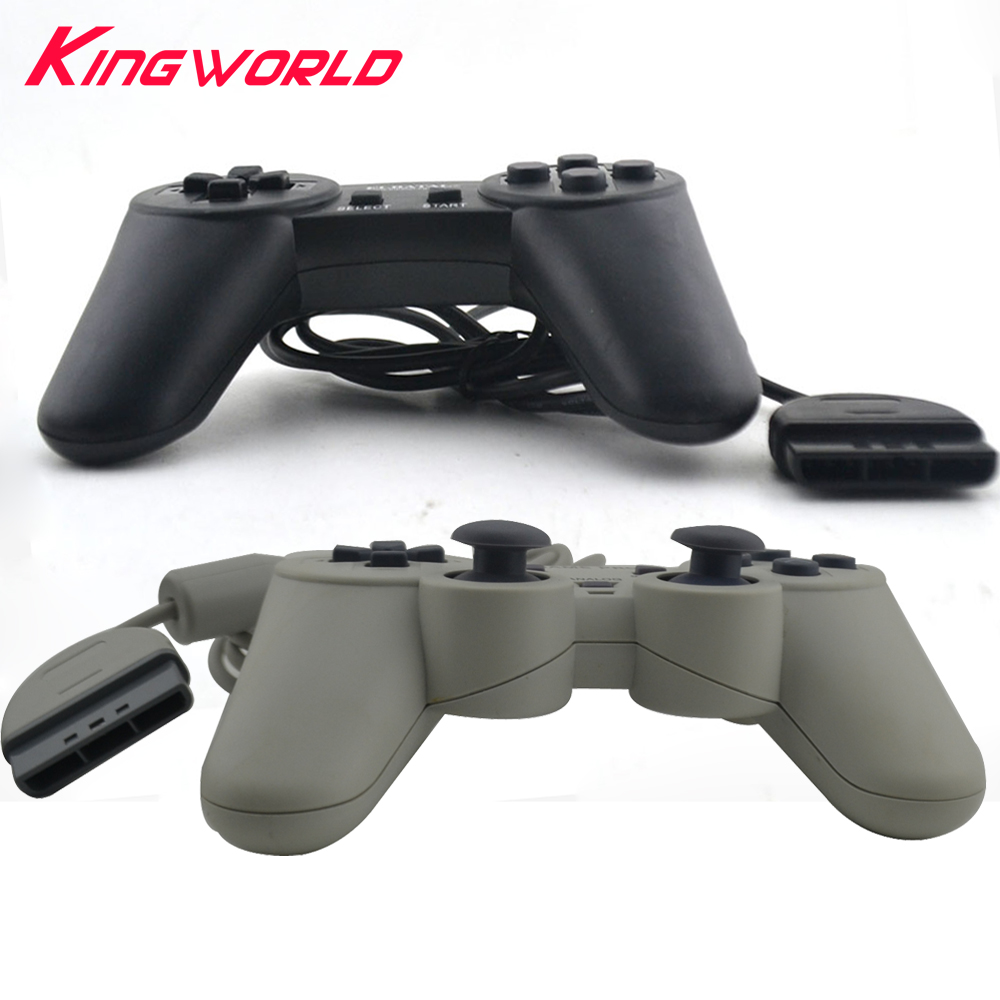 NEW Black Grey Color Classic Wired Game controller Gamepad Joystick for P-S1 for P-layStation 1 console image