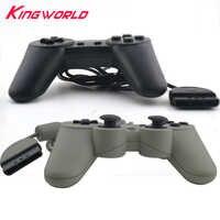 Novo preto cinza cor clássico com fio controlador de jogo gamepad joystick para P-S1 para p-laystation 1 console