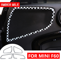 AMBERMILE for Mini Cooper Countryman F60 Accessories Mini F60 Countryman Mini F60 Interior Trim Door Audio Speaker Frame Strip