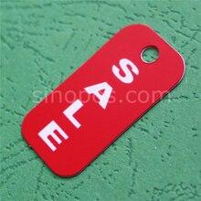 Пластиковые красные ценники, многоразовая ПВХ ценник обувь хантег сумка кошелек часы этикетка на ювелирные украшения рекламная вывеска карты веревка для подвешивания билета