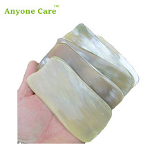 African Horn scraping board professional beauty scraping plate large size Massage Tool Chinese Health Guasha Scraping Board