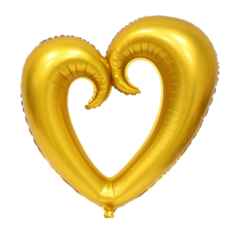 QGQYGAVJ 100cm*108cm light 1pcs Large hook heart shape foil balloons heart  balloon wedding party decoration marriage balloons-in Ballons & Accessories