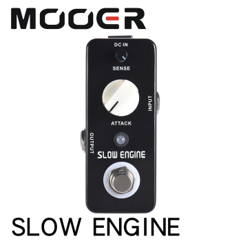 MOOER SLOW ENGINE Slow Motion Guitar Effect Pedal True Bypass Full Metal Shell With true bypass footswitch LED indicator light