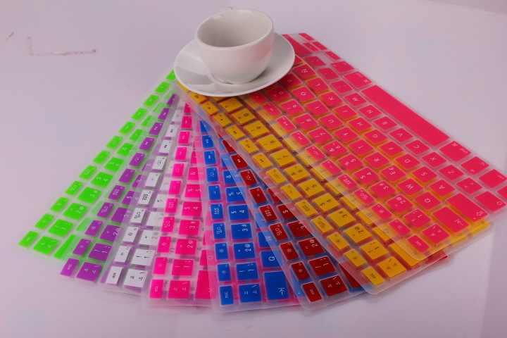 غطاء لوحة مفاتيح من السيليكون الجديد لماك بوك اير برو ريتينا 13 15 17 واقي للوحة مفاتيح ماك بوك الإسبانية والاتحاد الأوروبي