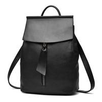 Women S PU Backpack Shoulder Bag Female Wear Girl S College Wind Backpack Travel Leisure Backpack