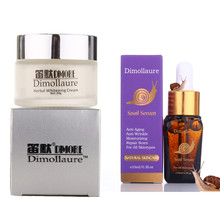 Dimollaure Strong effect whitening cream + snail serum anti-aging Moisturizing Remove Freckle