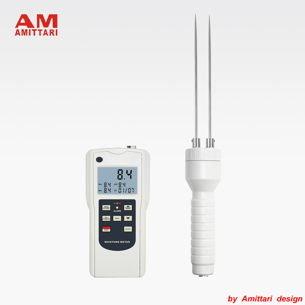 Genuine Brand AMITTARI Soil Moisture Meter Tester Statistical function digital display and color coded LED USB BLUETOOTH