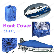 Heavy Duty Boat Cover 17 to 19 ft Boat Covers Waterproof With  blue 210D Oxford Cover For Boats Caravana V-hull Boat With Beam