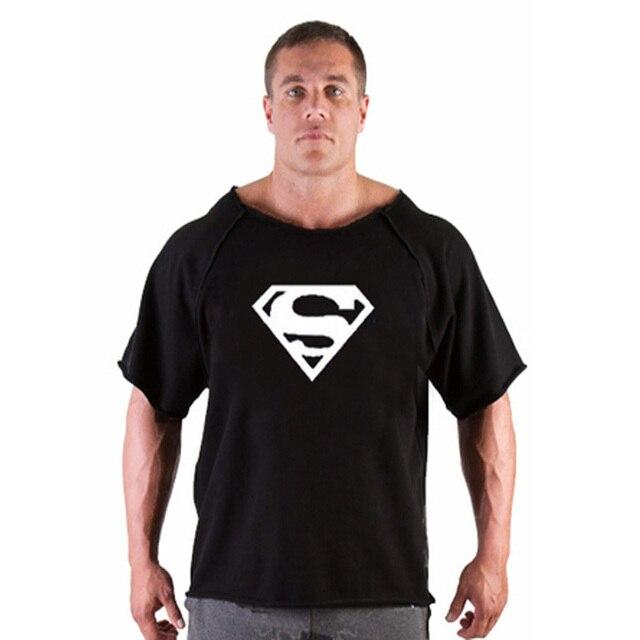 80d60d2a67921 Academias de ginástica Musculação Academias camisetas EUA Capitão Sexy  Justas Deadpool T-shirt Dos Homens