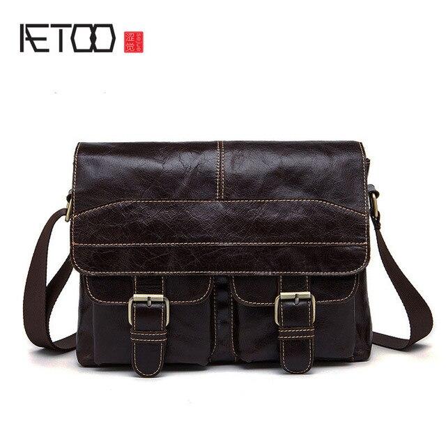Visualizzza di più. AETOO Maschio borsa tracolla in pelle da uomo marea  tricicli doppia tasca Messenger bag uomini d27dd9f8079