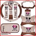 Cubierta Del Volante Del Coche del Envío libre Lindo de la Historieta de Mickey Mouse de Coches Accesorios Para Automóviles Decoración para Dama Cubierta Del Freno de mano