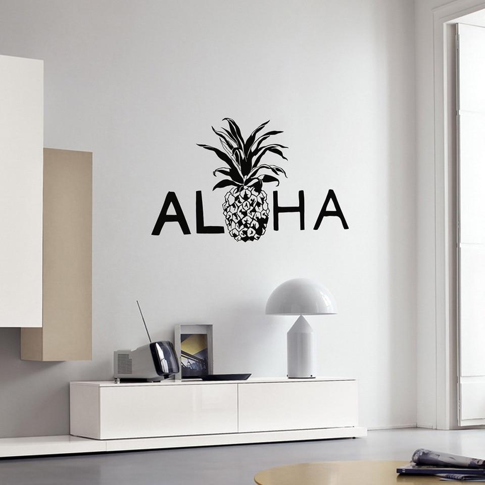 Aloha Vinyl Wall Decal Pinele Hawaii