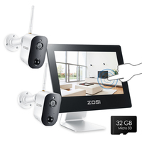 ZOSI 1080p HD Wireless Security Camera System 9 LCD 2.0MP Battery Operated Wire Free Two way Audio Surveillance Cameras Kit