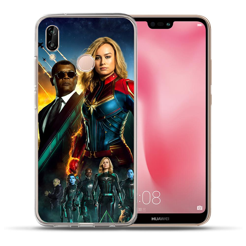 Goose Cat Captain Marvel Avengers Phone Case For Huawei P30 P20 Lite Pro P10 Lite P8 P9 Lite 2017 PSmart case Cover Etui Coque in Fitted Cases from Cellphones Telecommunications