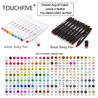 TouchFive Choose Any 10 20 Colors Dual Head Alcohol Artist Sketch Markers Pen For Manga Drawing