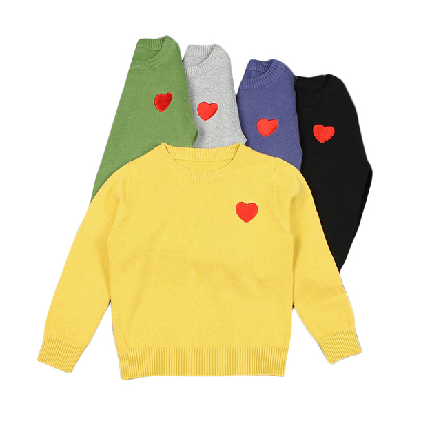 Baby Boys Girls Pullovers Knitted Heart Embroidery Sweaters 2017 ...