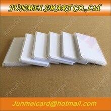 Бесплатная доставка, 50 шт./100 шт., 13,56 МГц, блок 0 Sector, перезаписываемая rfid карта IC S50 UID, сменная бирка для карт, белая Пустая карточка ISO14443A