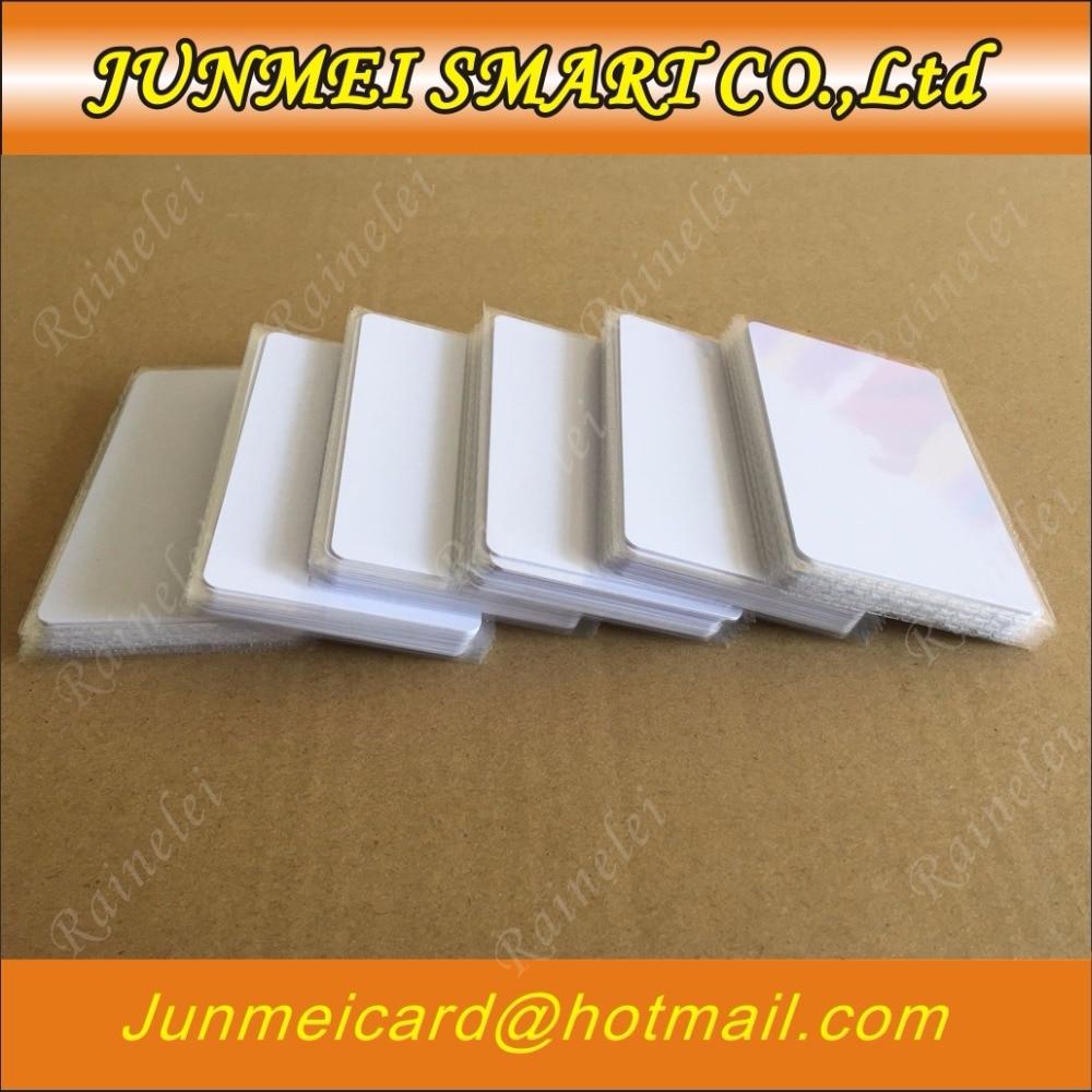Бесплатная доставка 50 шт/100 шт 13,56 МГц блок 0 сектор перезаписываемые RFID IC S50 сменных маркеров UID сменные карты тега белая Пустая карточка ...